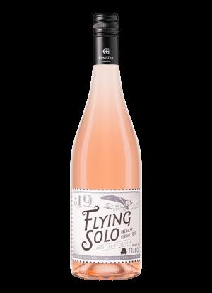 wijn fles Flying solo rose